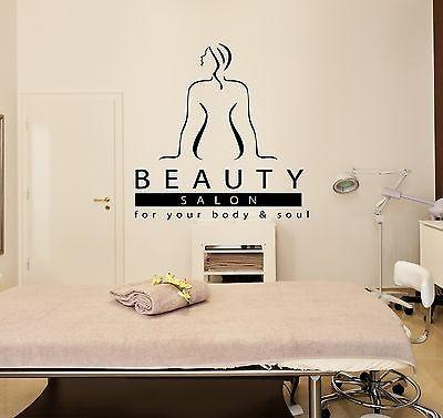 Wall Stickers Vinyl Decal Massage Beauty Salon Spa Relaxation Unique Gift ig1701