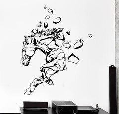 Wall Vinyl Horse Mustang Rocks Animal Ornament Mural Vinyl Decal Unique Gift (z3359)