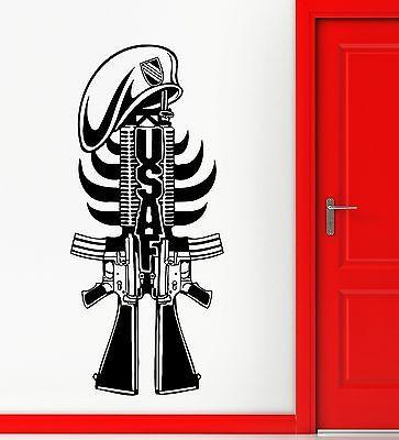 Wall Sticker Vinyl Decal Army Military USA Weapon War Gun Unique Gift (ig2221)