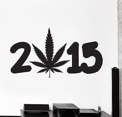Wall Vinyl Marihuana Weed Smoking Year 2015 Unique Gift (z3395)