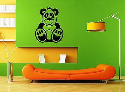 Wall Stickers Vinyl Decal Funny Bear Cartoon For Children Nursery Unique Gift ig1533