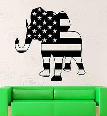 Vinyl Decal Elephant Politics Republican Party USA Wall Sticker Unique Gift (ig2328)