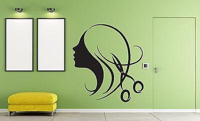 Decor for Beauty Salon Wall Sticker Vinyl Decal Beautiful Sexy Girl Hair (n292)