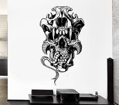 Wall Decal Skull Bone Death Fear Parseltongue Thorns Vinyl Stickers Unique Gift (ed076)