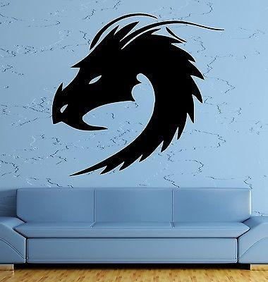 Wall Decal Dragon Myth Fantasy Monster Cool Decor For Living Room Unique Gift (z2694)