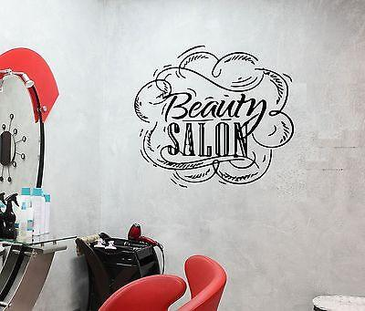 Wall Decal Beauty Salon Haircut Style Make-Up Visagist Vinyl Stickers (ed075)
