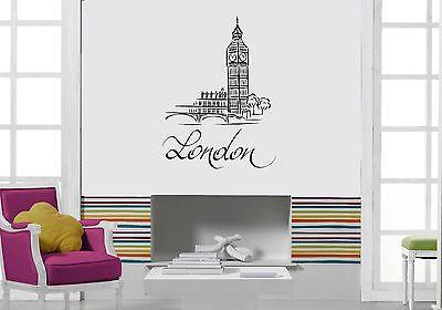 Wall Decal London Big Ben United Kingdom Capital City Vinyl Stickers Unique Gift (ed099)