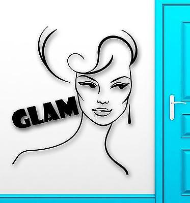 Wall Sticker Vinyl Decal Sexy Glamour Girl Beauty Glam Fashion Style Unique Gift (ig2228)