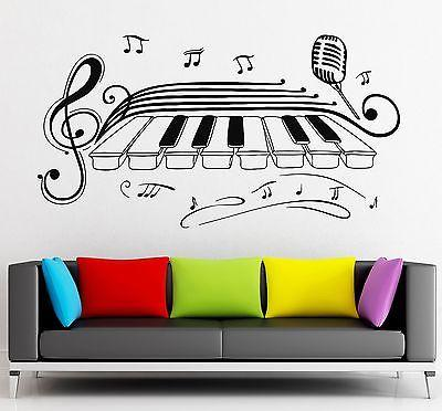Wall Stickers Vinyl Decal Classical Music Piano Jazz Blues Microphone (ig2268)