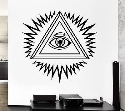 Vinyl Decal Wall Freemason Freemasonry Eye of Providence Stickers Art Unique Gift (ig2564)