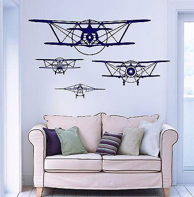 Wall Vinyl Retro Old Airplane Aircraft Guaranteed Quality Decal (z3480)