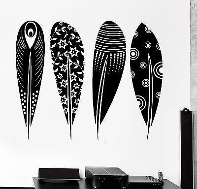 Wall Decal Birds Feather Cool Tribal Ornament Mural Vinyl Decal (z3170)