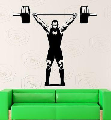 Wall Sticker Vinyl Decal Fitness Gym Muscled Sports Bodybuilding Unique Gift (ig2123)