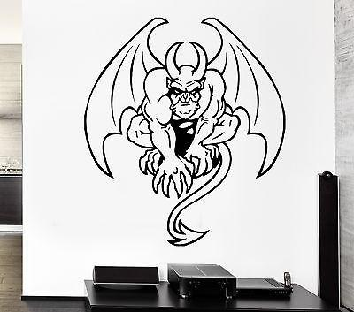 Wall Decal Gargoyle Monster Wings Horns Tail Evil Monster Vinyl Stickers Unique Gift (ed191)