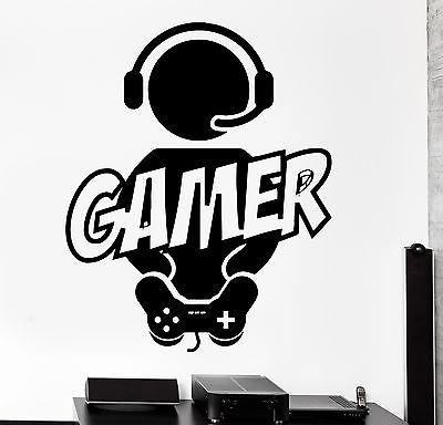 Wall Sticker Gaming Gamer Joystick Video Computer Game Vinyl Decal Unique Gift (z3088)