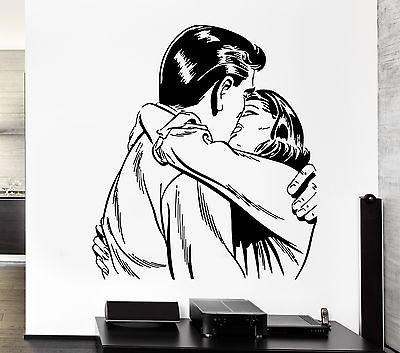 Wall Sticker Love Kiss Man And Woman Romantic Decor For Living Room (z2595)