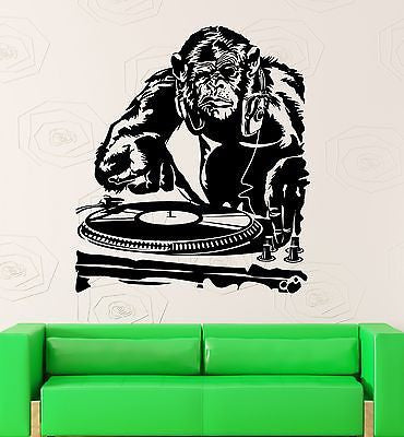 Wall Sticker Vinyl Decal Monkey DJ Music Night Club Party (ig1895)