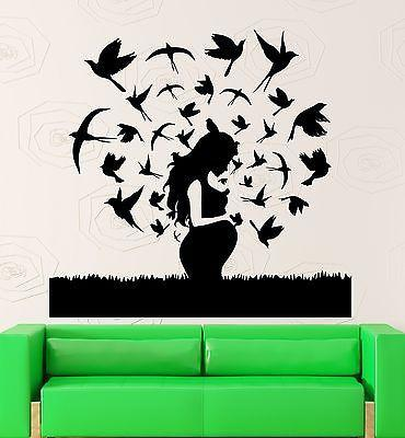 Vinyl Decal Mom Family Pregnancy Maternity Baby Bird Wall Stickers Unique Gift (ig2350)