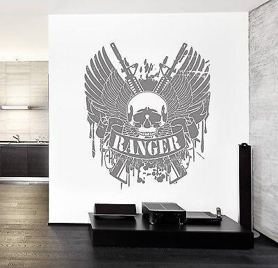 Wall Vinyl Army Soldier Ranger Rifle Guaranteed Quality Decal Unique Gift (z3462)