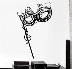Wall Decal Carnival Mask Secret Sexy Mural Vinyl Decal Unique Gift (z3146)