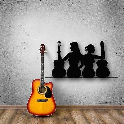 Wall Stickers Vinyl Decal Sexy Girl Music Guitar Silhouette Cool Decor Unique Gift (ig353)