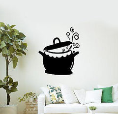 Kitchen Pots and Fry Pans Cooking Kettle Cuisine Wall Sticker Vinyl Decal Unique Gift (m321)