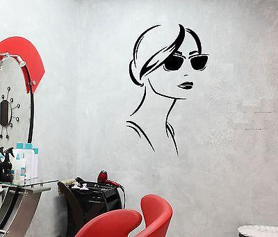Wall Decal Sexy Girl Fashion Sunglasses Beauty Salon Vinyl Stickers (ed243)