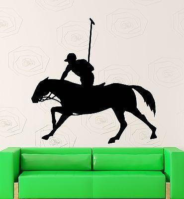 Wall Sticker Vinyl Decal Equestrian Sport Polo Horse Rider (ig1868)