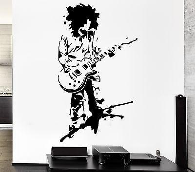 Wall Sticker Music Rock Guitar Star Cool Pop Art For Living Room Unique Gift z2605