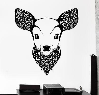 Wall Vinyl Deer Fawn Animal Ornament Mural Vinyl Decal Unique Gift (z3354)