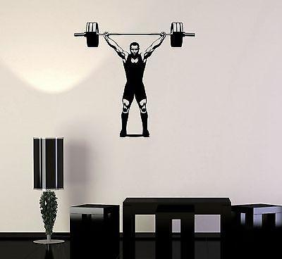 Vinyl Decal Gym Bodybuilding Fitness Strongman Sports Wall Stickers Unique Gift (ig2123)