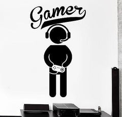 Wall Decal Gaming Joystick Joypad Controlller Gamer Vinyl Decal Unique Gift (z3108)