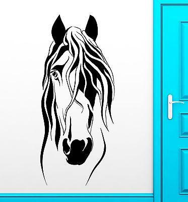 Wall Sticker Vinyl Decal Horse Head Animal Beautiful Mane Home Decor Unique Gift (ig2185)