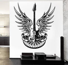 Wall Vinyl Guitar Heavy Music Eye Guaranteed Quality Decal Unique Gift (z3492)