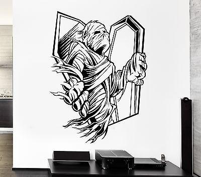 Wall Decal Zombie Corpse Coffin Mummy Horror Fear Grave Vinyl Stickers (ed097)
