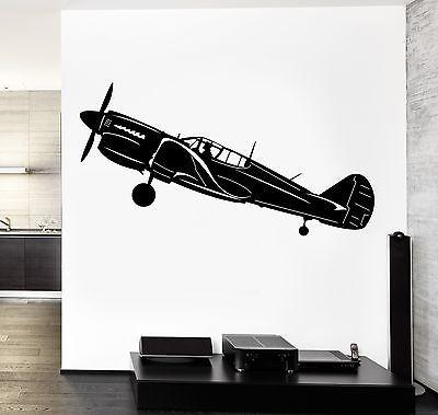 Wall Vinyl World War Aircraft Fighter Guaranteed Quality Decal Unique Gift (z3478)