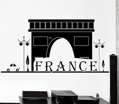 Wall Decal Paris France Classic French Building Vinyl Decal Unique Gift (z3121)