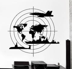 Wall Vinyl Warship Submarine Aircraft Guaranteed Quality Decal (z3439)