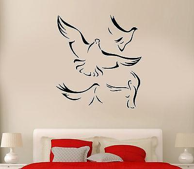 Wall Decal Flock Of Birds Flying Wings Dove Heaven Vinyl Stickers Unique Gift (ed230)
