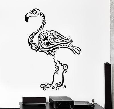 Wall Decal Bird Flamingo Cool Ornament Mural Vinyl Decal Unique Gift (z3329)