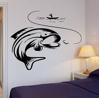 Wall Decal Fishing Fishing Lake Relax Relaxation Cool Decor For Garage Unique Gift (z2754)