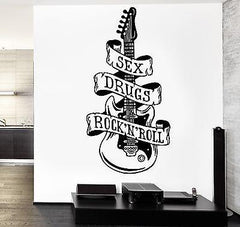 Wall Decal Music Sexy Drugs Rock`n`Roll Vinyl Sticker Unique Gift (z3589)