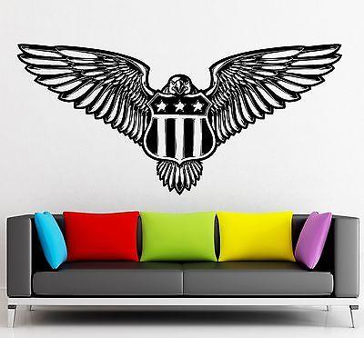 Wall Sticker Vinyl Decal Eagle and Shield Symbol Excellent Room Decor Unique Gift (ig2149)