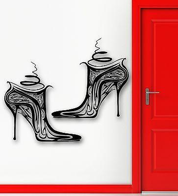 Wall Sticker Vinyl Decal Shoes Beautiful Fashion Girl Style Unique Gift (ig1817)