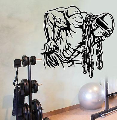 Wall Decal Sport Deeps Gym Bodybuilder Muscle Man Weights Cool Decor Unique Gift (z2771)