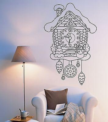 Wall Vinyl Fairytale Cuckoo-Clock Watch For Bedroom Mural Vinyl Decal Unique Gift (z3377)