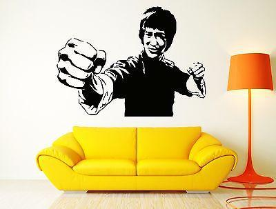 Wall Sticker Movie Star Jackie Chan Martial Arts Karate Cool Cool Decor Unique Gift (z2570)