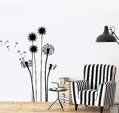 Wall Decal Flower Floral Plant Romantic Vinyl Sticker Unique Gift (z3627)