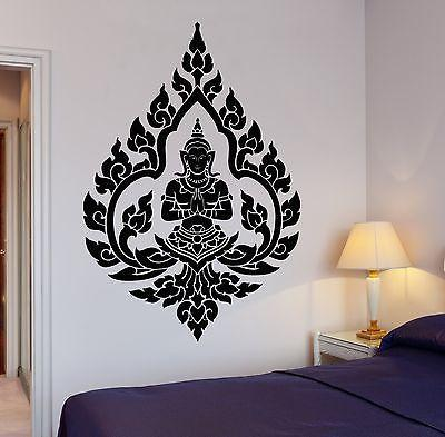 Amazing Buddha Wall Decal Yoga Om Buddhism Indian Zen Meditation Decor Unique Gift  (z2665)