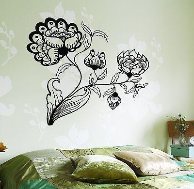 Wall Decal Flower Floral For Bedroom Vinyl Sticker Unique Gift (z3644)